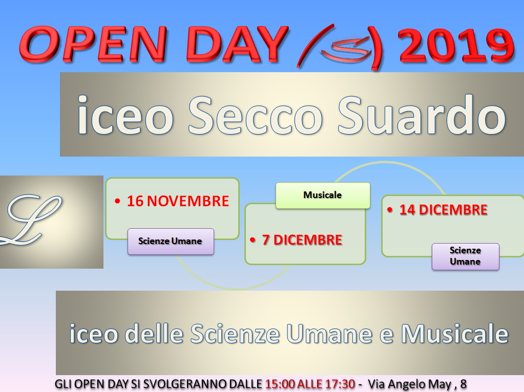 Open Day Liceo Secco Suardo